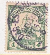 Germany East Africa 23 B  Yellow  Green  (o)   No Wmk.  DAR-ES-SALAAM  Type  III   Cd. - Colony: German East Africa