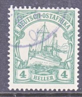 Germany East Africa 23 B  Yellow  Green  (o)   No Wmk. - Colony: German East Africa