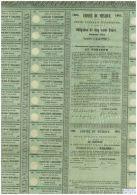 Imperio De Mexico 1865, Rare Non Annulé! - Bank & Insurance