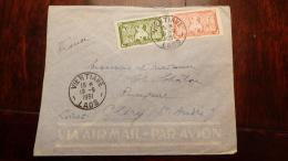 LAOS  INDOCHINE  (x Scan)   1951     BELLE LETTRE  DE VIENTIANE LAOS POUR CLERY ST ANDRE  BONNE COTE - Briefe U. Dokumente