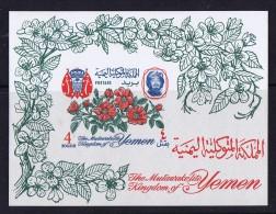 Royaume Du Yémen  1965   Fleurs   Bloc Feuillet   *  MH - Yemen