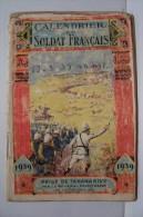 MILITARIA :  CALENDRIER DU SOLDAT FRANCAIS  1939