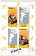 BULGARIA / Bulgarie /Bulgarien   2011  Dakar Rally  S/S Of 2 Stamps + 2+ Vignette –MNH - Bulgarije
