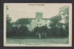 DF / 34 HERAULT / NÉZIGNAN L' ÉVÊQUE / LE CHÂTEAU / CIRCULÉE EN 1939 - France