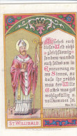 WSt. Willibald . Con Preghiera Al Retro - Andachtsbilder