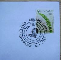2013 SLOVENIA CANCELLATION ON COVER GIUSEPPE TARTINI COMPOSER THE DEVIL'S TRILL MUSIC - Music