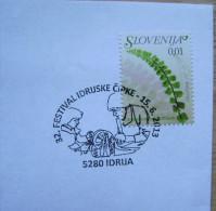 2013 SLOVENIA CANCELLATION ON COVER 32. IDRIJA LACES FESTIVAL LACE - Textile