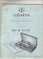 6  FEUILLES  -  LUDARVA  -  JEUX DE  SOCIETE  - 1956 - Vieux Papiers