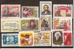 Russie  URSS 1961 / Lot Vrac De 12 Oblitérés  Livrés Sans Le Présentoir - Oblitérés
