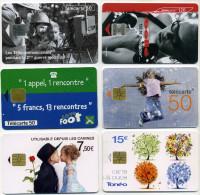 Lot 6 Télécartes Utilisées Dont 1 100000 Ex (lot 4) - Télécartes