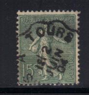 FRANCE- Y&T N°130- Cachet à Date TOURS 2 Juin 1904 - 1903-60 Semeuse Lignée