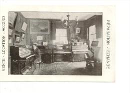 CARTE ANIMÉE. CPA. 84. AVIGNON . SALON DE PIANOS ET ORGUES. LOUIS BRUNEL . SAINT DIDIER . SAINTE CECILE - Avignon
