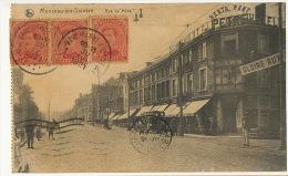 Monceau Sur Sambre Charleroi Rue De Mons  Restaurant Petre Voyagé A Cuba 1921Edit Bardiau - Charleroi