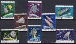 8.1.1964, Hongrie , Recherches Spatiales, YT  1622 - 1629, Oblitéré, Lot 40690 - Space