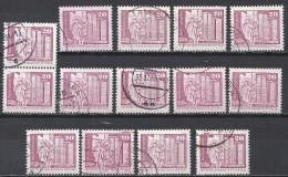 DDR 1973 1980 Mi 1869 2485 20 Pfg. 14x Gestempelt (undurchsucht) - DDR