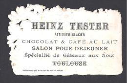 Haute Garonne - Chromo HEINZ TESTER Patissier  TOULOUSE - - ( 2 Scans ) - Publicités