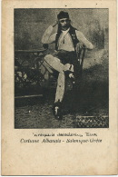 Costume Albanais A Salonique Grece 1916 - Albania
