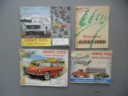 DINKY TOYS, LOT De 4 ANCIENS CATALOGUES  1956 / 1961 - SUPERTOYS ET DINKY - 1901-1940