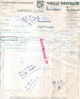 29 - ROSPORDEN  - FACTURE CONSERVERIES D' ARMORIQUE-1960- CONSERVES- VIEILLE BRETAGNE - 1900 – 1949