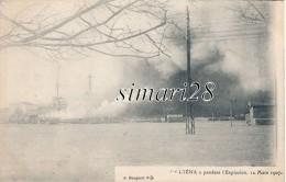 L'IENA - PENDANT L'EXPLOSION - 12 MARS 1907 - Warships