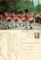 Tivoli Guards, Copenhagen, Denmark Postcard Posted 1981 Stamp - Denmark
