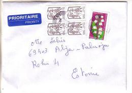 GOOD FRANCE Postal Cover To ESTONIA 2014 - Good Stamped: Flower ; Marianne - Frankrijk