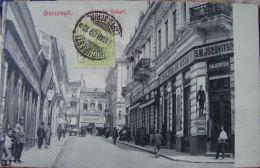 Salutari BUCURESTI 1909 CENTRUL Vechi, Strada SELARI, Pravalii Judaica JSCOVITSCH, TCV - Roumanie