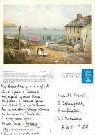 Wane, Richard  Washing Day Medici Society  Art Postcard Posted 1990s Stamp - Paintings