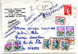 Lettre Simple De Tourcoing  (14.09.1981) Pour Nieppe (18.09.1981) Taxée Deux Fois à 2,90 F_Retour A L'envoyeur Et NPAI - 1960-.... Covers & Documents