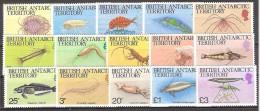 **  BRITISH ANTARTIC TERRITORY FAUNA MARINA MNH YVERT 128/143 - Territorio Antartico Britannico  (BAT)