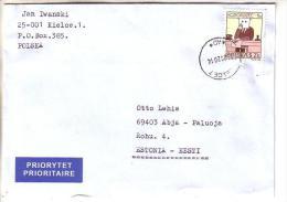 GOOD POLAND Postal Cover To ESTONIA 2014 - Good Stamped: Zodiac - 1944-.... Republic