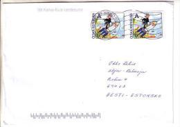 GOOD CZECH Postal Cover To ESTONIA 2014 - Good Stamped: Rocket - Czech Republic