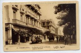 Maroc--CASABLANCA---Le Boulevard De La Liberté (animée,voiture,garage,attelage ) N°21 éd Flandrin--Belle Carte - Casablanca