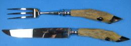 Couteaux, Couverts à Découper, Pieds De Biche - Autres Collections