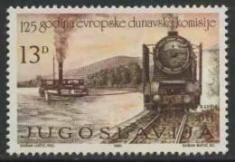 Jugoslavija Yugoslavia 1981 Mi 1904 YT 1790 ** Paddle-steamer Towed By Steam Railway Locomotive / Schiff-Schleppdienst - Treinen