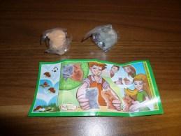 Kinder Suprise FT 025 Natoons - Duo Hamster ( Gris Clair - Brun Clair) + Bpz - MonoBlocks
