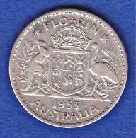 1 Florin Australien 1953 Ss - Monnaie Pré-décimale (1910-1965)