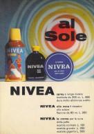 # OLIO SOLARE E CREMA NIVEA 1950s Advert Pubblicità Publicitè Reklame Suntan Oil Bronzage Creme Solaire Protector - Unclassified
