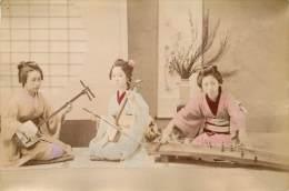 Japon Tirée Sur Papier Fin  Musiciens - Vieux Papiers