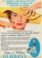 # CREMA DI BELLEZZA DURBAN´S 1950s Advert Pubblicità Publicitè Reklame Moisturizing Cream Creme Hydratante Protector - Perfume & Beauty