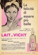 # LAIT DE VICHY 1950s Advert Pubblicità Publicitè Reklame Milk Cream Crema Creme Hydratante Protector Beautè - Parfums & Beauté