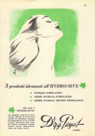 """# Dr. PAYOT """"3"""" CREME HYDRATANTE 1950s Advert Pubblicità Publicitè Reklame Cream Crema Creme Hydratante Protector Beautè - Unclassified"""