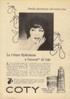 # COTY CREME DE JOUR HYDRATANTE 1950s Advert Pubblicità Publicitè Reklame Cream Creme Hydratante Protector Beautè - Parfums & Beauté