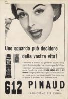 # PINAUD 612 MASCARA POUR LE CILS 1950s Advert Pubblicità Publicitè Reklame Cream Rimel Maskara Protector Beautè - Unclassified
