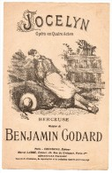 Partitions Musicales, Jocelyn Opéra En 4 Actes, Musique De Benjamin Godard, Ed: Choudens, Frais Fr: 1.80€ - Partitions Musicales Anciennes