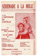 Partitions Musicales, Sérénade à La Mule, Musique R.Friml Et Orchestre Victor, Edition Chappell, Frais Fr: 1.80€ - Partitions Musicales Anciennes