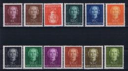 Dutch Antilles: 1950 NVPH 218-229, MH/*, The 10 Cent Is Used - Curaçao, Nederlandse Antillen, Aruba