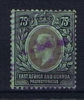 UK: East Africa And Uganda Protectorates 1912  Mi Nr 50 Used Smaragd Back - Protectorados De África Oriental Y Uganda