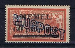 Deutsche Reich: Memel Mi 40 I X GC Paper MH/*, Yv 1 B Airmail 1921 - Klaipeda