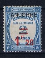 Andorre Fr. Mi Taxe 12 , MH/*  Yv  Taxe 13